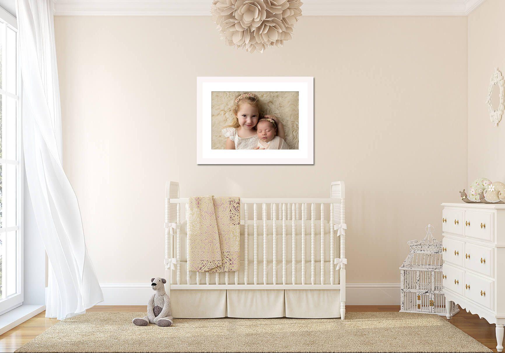 Newborn baby nursery wall art